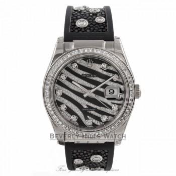 Rolex Datejust White Gold Diamond Bezel Diamond Dial Stingray Diamond Strap Royal Back Datejust 116189 Beverly Hills Watch Company Watches