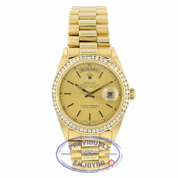 Rolex Day-Date President 18k Yellow Gold 36MM 18038 WXAAUD - Beverly Hills Watch Company