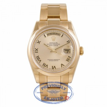 Rolex Day-Date President 36MM 18k Yellow Gold Champagne Dial 118208 11UHJW - Beverly Hills Watch Company Watch Store