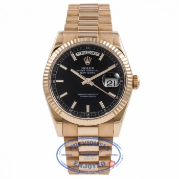 Rolex Day-Date President Gold Rose 118235 UXMYFZ - Beverly Hills Watch Company Watch Store
