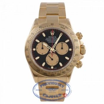 Rolex Daytona 18K Yellow Gold Black Dial Stick Markers 116528 N5UTPN - Beverly Hills Watch Company Watch Store