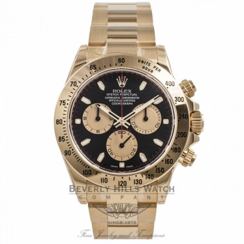 Rolex Daytona Chronograph 18K Yellow Gold 116528 RK08NQ - Beverly Hills Watch Company