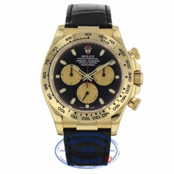 "Rolex Daytona 40mm ""Paul Newman"" 18k Yellow Gold Alligator Strap 116518 MKKCET - Beverly Hills Watch Company"