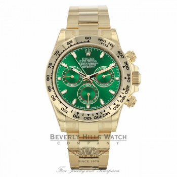 Rolex Oyster Perpetual Cosmograph Daytona Yellow Gold Anniversary Green 116508  - Beverly Hills Watch