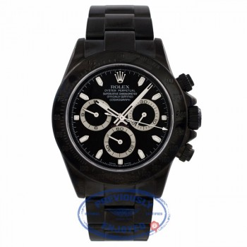 Rolex Daytona Black DLC Stainless Steel Black Dial 116520 X4C08F - Beverly Hills Watch Company Watch Store