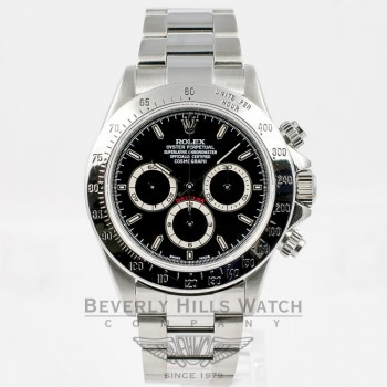 Rolex Daytona Stainless Steel Chronograph Black Dial Oyster Bracelet El Primero Movement 16520 Beverly Hills Watch Company Watches