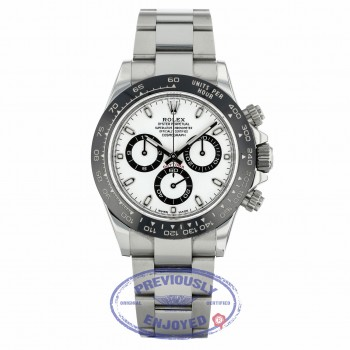 Rolex Daytona Ceramic and Stainless Steel White Dial 116500LN CU46CT - Beverly Hills Watch