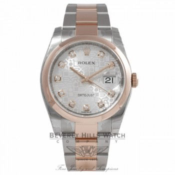 Rolex Datejust Steel and Rose gold QUQFQ5 - Beverly Hills Watch Company Watch Store
