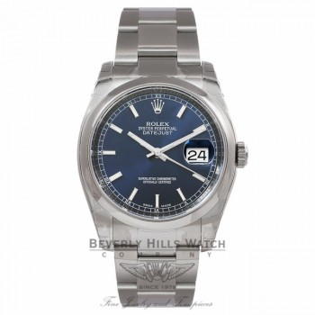 Rolex Datejust 36MM Stainless Steel Blue Dial 116200 PH6K86 - Beverly Hills Watch Company Watch Store