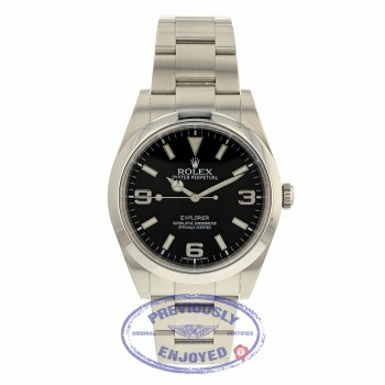 Rolex Explorer I 39mm Stainless Steel Black Dial Watch 214270 K8LDCT - Beverly Hills Watch Company