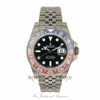 Rolex GMT Master II Stainless Steel Ceramic Pepsi 126710BLRO 1QDEXE - Beverly Hills Watch Company