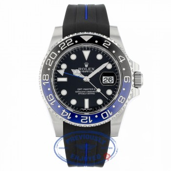 Rolex GMT Master II Bruiser Black/ Blue Ceramic Bezel Stainless Steel 116710 Z030UR - Beverly Hills Watch Company