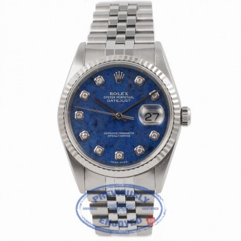 Rolex Sodalite Oyster Perpetual DateJust 16234 JQJMFI - Beverly Hills Watch Company Watch Store