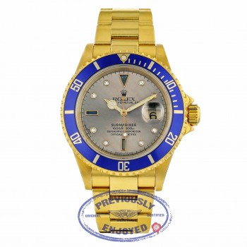 Rolex-Submariner-Classic-yellow-gold-silver-Serti-dial-16618-TLRU9X-06