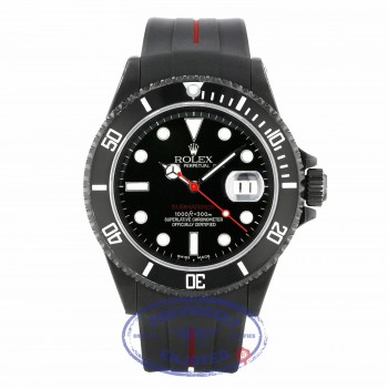Rolex Submariner Stainless Steel Black DLC Coated Watch 16610 9F8XR2