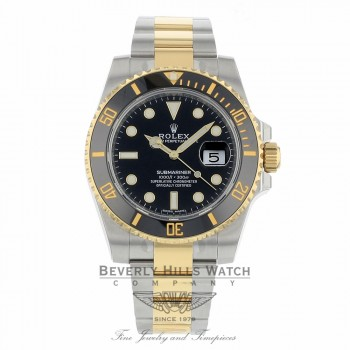 Rolex Submariner 40mm Ceramic Black Dial Yellow Gold and Stainless Steel 116613 - Beverly Hills Watch Company