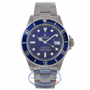 Rolex Submariner Date Stainless Steel Blue Dial Oyster Bracelet 16610 PH261U - Beverly Hills Watch Company Watch Store
