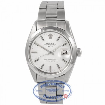 Rolex Vintage Date Silver Dial Stainless Steel Oyster Perpetual 1500 RGNXUV - Beverly Hills Watch Company Watch Store