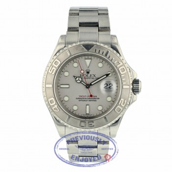 Rolex Yachtmaster 40mm Stainless Steel Oyster Bracelet Platinum Bezel and Dial 16622 HXMMUE