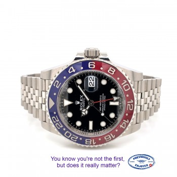 Rolex GMT Master II Stainless Steel Ceramic Pepsi 126710BLRO ME4U4P - Beverly Hills Watch Company
