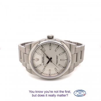 Rolex Oyster Perpetual 39mm Stainless Steel Silver Dial Y40X6T - Beverly Hills Watch Company
