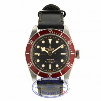Tudor Heritage Black Bay 41MM Stainless Steel Matte Burgundy Red Bezel 79220R UXVHNM - Beverly Hills Watch Company