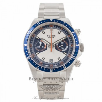 Tudor Heritage Chronograph Blue 70330B 6HDX25 - Beverly Hills Watch Company Watch Store