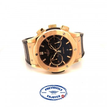 Hublot Classic Fusion 45mm Rose Gold Chronograph Black Dial 521.OX.1180.LR U88N93 - Beverly Hills Watch Company