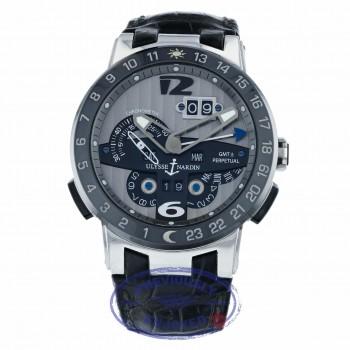 Ulysse Nardin El Toro GMT Silver Dial Platinum Perpetual Calendar 43mm 329-00 9791Z0 - Beverly Hills Watch Company