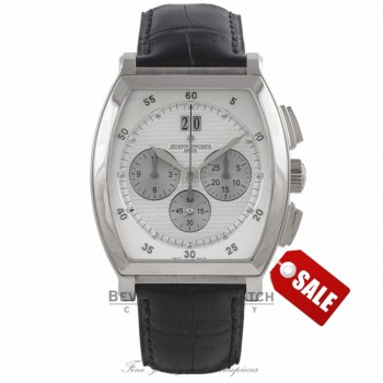 Vacheron Constantin Malte Tonneau Chronograph 18K White Gold Watch 49180/000G-9360 Beverly Hills Watch Company Watches