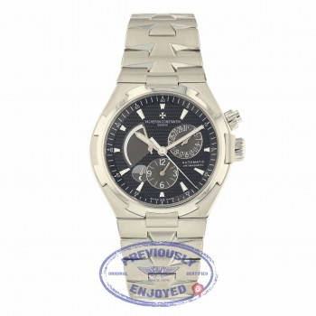 Vacheron Constantin Overseas Dual Time Power Reserve Stainless Steel Bracelet Black Dial Watch 47450-B01A-9227 KTPPDT Beverly Hills Watch Company Watch Store