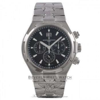 Vacheron Constantin Overseas Chronograph Black Dial Automatic Stainless Steel on Bracelet 49150/B01A-9097 JTYPVC - Beverly Hills Watch Store