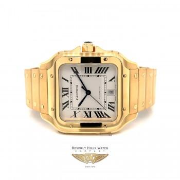 Santos de Cartier Watch Yellow Gold Large WGSA009 HVJ80A