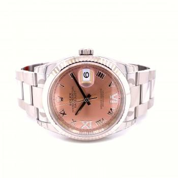 Rolex Datejust 36mm Pink Dial Diamond Roman 126234 WXHHU3 - Beverly Hills Watch Company