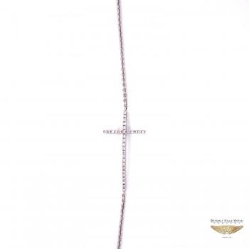 Naira & C Diamond Cross White Gold Bracelet WZ1ZXN - Beverly Hills Watch and Jewelry Company