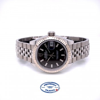 Rolex Datejust 28mm Fluted Bezel Dark Grey Jubilee 279174 XU8TMX - Beverly Hills Watch Company