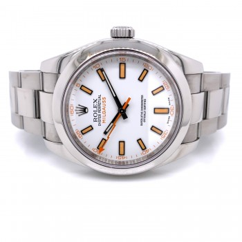 Rolex Milgauss 40mm White Dial Stainless Steel 116400 YRH9FT - Beverly Hills Watch Company