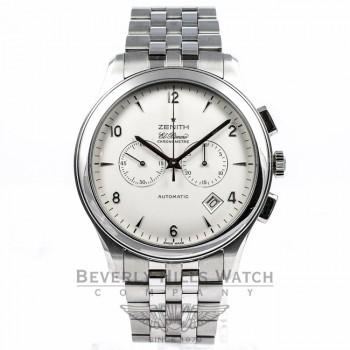 Zenith Elite EL Primero Chronograph Stainless Steel Watch 03.0520.4002 Beverly Hills Watch Company