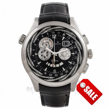 Zenith Grande Class Traveller Multicity 46MM Gents Automatic Stainless Steel 03.0520.4037/22C 19209 - Beverly Hills Watch Company Watch Store